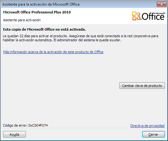 error-office-activate-0xc004f074