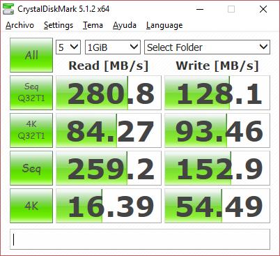 velocidad disco ssd windows